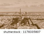 view on eiffel tower and center ... | Shutterstock . vector #1178335807