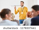man as speaker and consultant... | Shutterstock . vector #1178337661