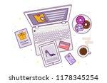 flat design baner  landing page ...   Shutterstock .eps vector #1178345254