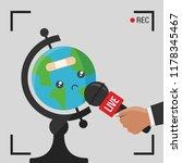news illustration on live tv  ... | Shutterstock .eps vector #1178345467