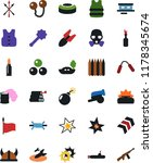 vector icon set   bomb vector ... | Shutterstock .eps vector #1178345674