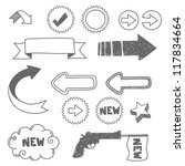 arrows and hand drawn elements | Shutterstock .eps vector #117834664