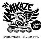 kamikaze rolling club grunge... | Shutterstock .eps vector #1178351947
