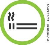 smoking allowed sign | Shutterstock .eps vector #1178352901