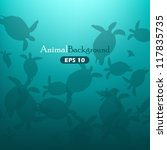animal background with turtles | Shutterstock .eps vector #117835735
