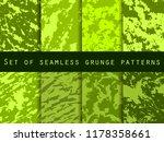 grunge set of seamless pattern... | Shutterstock .eps vector #1178358661