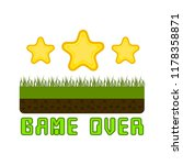 game over concept image | Shutterstock .eps vector #1178358871
