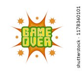 game over concept image | Shutterstock .eps vector #1178360101