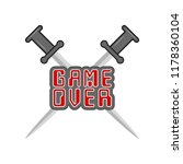 game over concept image | Shutterstock .eps vector #1178360104