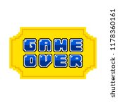 game over concept image | Shutterstock .eps vector #1178360161