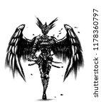 angel of death in black suit | Shutterstock . vector #1178360797