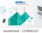 business brochure design. flyer ... | Shutterstock .eps vector #1178361127