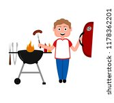 man preparing food on a... | Shutterstock .eps vector #1178362201