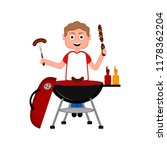 man preparing food on a... | Shutterstock .eps vector #1178362204