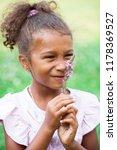 close up portrait of pretty... | Shutterstock . vector #1178369527