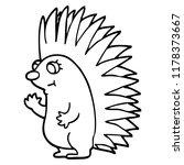line drawing cartoon spiky... | Shutterstock . vector #1178373667