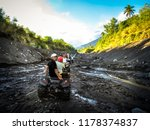 buggy tourists near the volcano....   Shutterstock . vector #1178374837