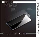 screen protector glass. vector... | Shutterstock .eps vector #1178377741