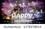 2019 happy new year colourful... | Shutterstock .eps vector #1178378014