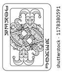 a playing card joker in black... | Shutterstock .eps vector #1178380591