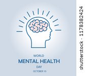 world mental health day. the... | Shutterstock .eps vector #1178382424