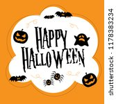 happy halloween illustration... | Shutterstock .eps vector #1178383234