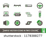 auto tuning simple vector icons ... | Shutterstock .eps vector #1178388277