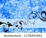 floral background design | Shutterstock . vector #1178391841