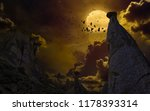 dramatic mystical background  ... | Shutterstock . vector #1178393314
