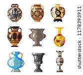 big set of antique utensils for ... | Shutterstock .eps vector #1178393911
