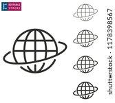 globe outline icon on white... | Shutterstock .eps vector #1178398567