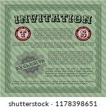 green vintage invitation.... | Shutterstock .eps vector #1178398651