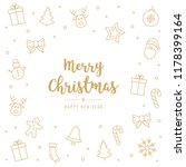 christmas icon elements card... | Shutterstock .eps vector #1178399164