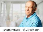 happy senior man in glasses | Shutterstock . vector #1178406184