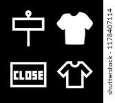 advert icons set with t shirt... | Shutterstock .eps vector #1178407114