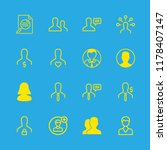 16 seo icons with user and... | Shutterstock .eps vector #1178407147