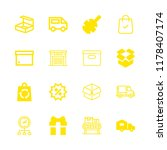 16 package icons with warehouse ... | Shutterstock .eps vector #1178407174