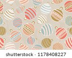 pink  blue and gold christmas... | Shutterstock .eps vector #1178408227