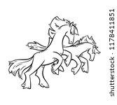 abstract cartoon horses... | Shutterstock .eps vector #1178411851