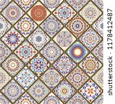 seamless colorful patchwork.... | Shutterstock . vector #1178412487