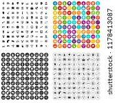 100 on line seminar icons set... | Shutterstock . vector #1178413087