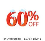 60  off. a discount of sixty... | Shutterstock .eps vector #1178415241