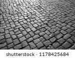 cobbled square backgrond  ...   Shutterstock . vector #1178425684