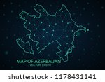 map azerbaijan. wire frame 3d... | Shutterstock .eps vector #1178431141