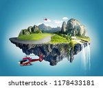 two helicopter fly around the ... | Shutterstock . vector #1178433181