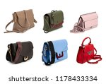 group of women leather handbags ... | Shutterstock . vector #1178433334