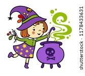 funny witch is cooking... | Shutterstock .eps vector #1178433631