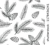 seamless christmas pattern with ... | Shutterstock .eps vector #1178436241