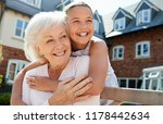 granddaughter hugging... | Shutterstock . vector #1178442634
