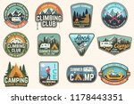 set of rock climbing club and... | Shutterstock .eps vector #1178443351